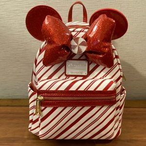 Disney Parks Holiday Peppermint Loungefly Backpack